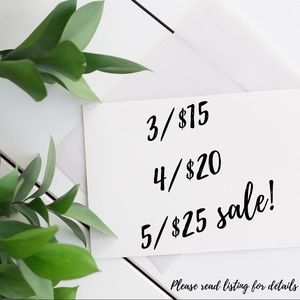 Other - 🌿 3/$15, 4/$20, 5/$25 Sale!